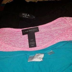 Tops - Three shirts- Avenue, Lane Bryant, JKLA